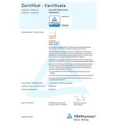 TÜV Zertifikat der SLH GmbH